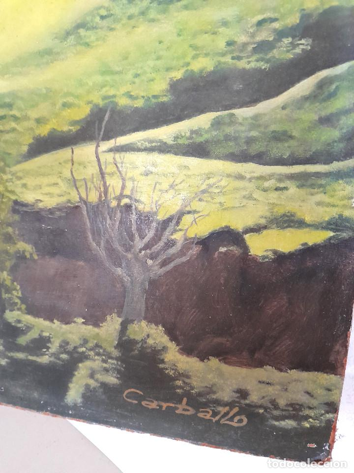 Arte: Gran tamaño Óleo sobre tabla o similar País Vasco firmado autor Carballo Sánchez 90 cm x 63 cm - Foto 2 - 287677973