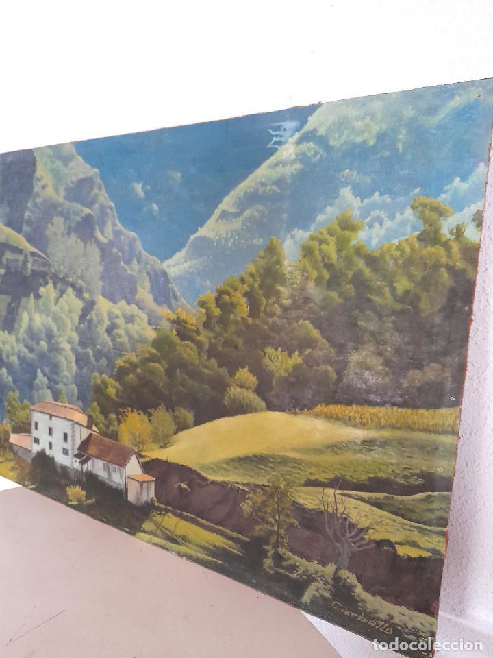 Arte: Gran tamaño Óleo sobre tabla o similar País Vasco firmado autor Carballo Sánchez 90 cm x 63 cm - Foto 3 - 287677973