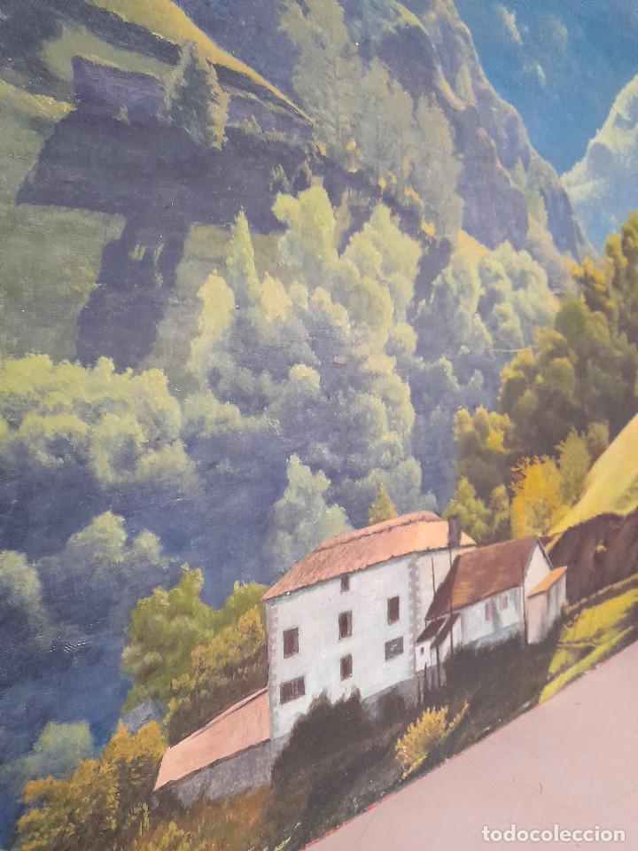 Arte: Gran tamaño Óleo sobre tabla o similar País Vasco firmado autor Carballo Sánchez 90 cm x 63 cm - Foto 5 - 287677973