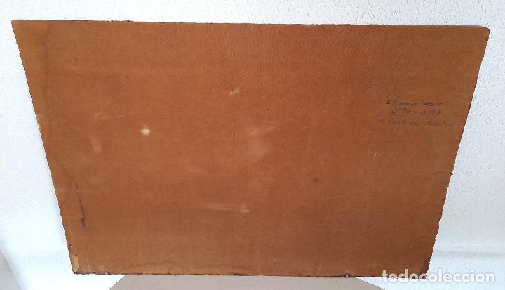 Arte: Gran tamaño Óleo sobre tabla o similar País Vasco firmado autor Carballo Sánchez 90 cm x 63 cm - Foto 8 - 287677973