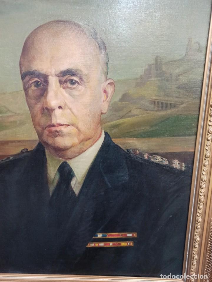Arte: Excelente retrato de Alto Cargo. Medallas División Azul. Faustino Martín. A2 - Foto 2 - 287685658