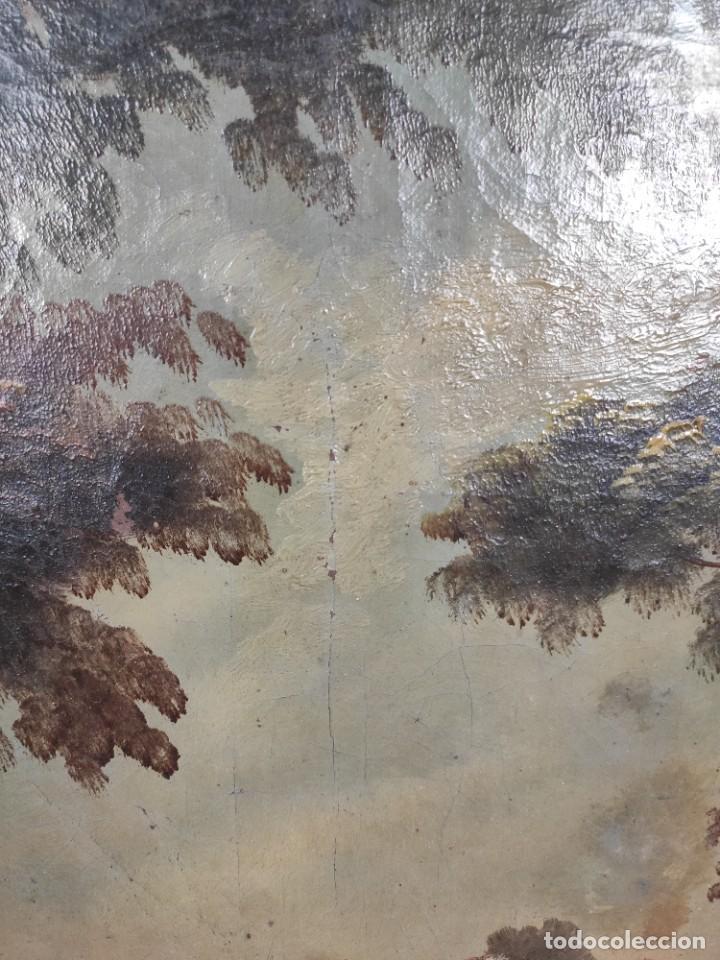 """Arte: """"Las afueras"""", óleo sobre lienzo, de finales del siglo XIX. Sin firmar. - Foto 5 - 287705578"""