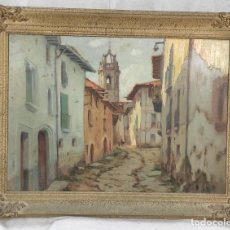 """Arte: """"EN CARRERÓ"""" EN MOYÁ DE FRANCESC D'ASSIS PLANAS DORIA (1873-1955), ÓLEO SOBRE TABLA.. Lote 287706578"""
