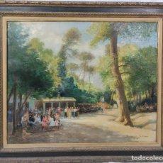 """Arte: """"DÍA DE FIESTA"""" DE DOMINGO SOLER GILI (1871-1951), ÓLEO SOBRE LIENZO81X100 AM LIENZO.. Lote 287709753"""
