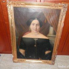 Art: ANTIGUO RETRATO AL OLEO , MITAD DEL SIGLO XIX. Lote 287718588