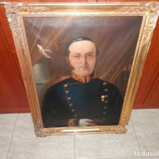 Art: ANTIGUO RETRATO AL OLEO , FECHADO EN 1853, CON NOMBRE, 87 X 65 CM EN TOTAL. Lote 287718988