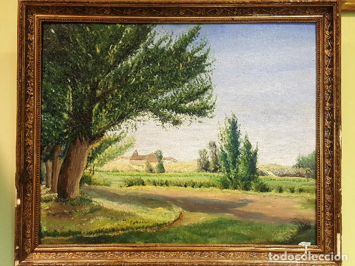 R. DE BLAS (1910-1975). EL CABILDO. PAISAJE. ÓLEO SOBRE LIENZO. FIRMADO POR EL AUTOR. (Arte - Pintura - Pintura al Óleo Moderna sin fecha definida)