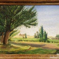 Arte: R. DE BLAS (1910-1975). EL CABILDO. PAISAJE. ÓLEO SOBRE LIENZO. FIRMADO POR EL AUTOR.. Lote 287721428