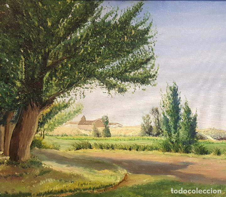 Arte: R. de Blas (1910-1975). El Cabildo. Paisaje. Óleo sobre lienzo. Firmado por el autor. - Foto 2 - 287721428