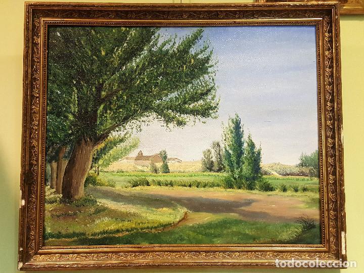 Arte: R. de Blas (1910-1975). El Cabildo. Paisaje. Óleo sobre lienzo. Firmado por el autor. - Foto 3 - 287721428