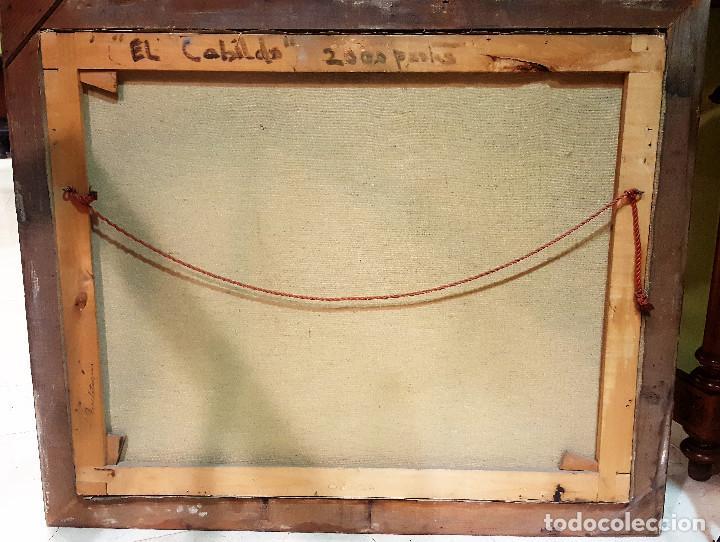 Arte: R. de Blas (1910-1975). El Cabildo. Paisaje. Óleo sobre lienzo. Firmado por el autor. - Foto 5 - 287721428