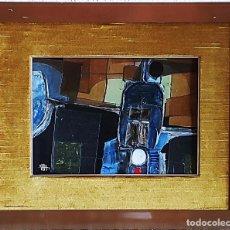 Arte: CUADRO ABSTRACTO ENMARCADO - REF 107 - DEL PINTOR CATALÁN - JOSEP MARFA - BARCELONA-. Lote 287727888