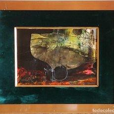 Arte: CUADRO ABSTRACTO ENMARCADO - REF 104 - DEL PINTOR CATALÁN - JOSEP MARFA - BARCELONA-. Lote 287733378