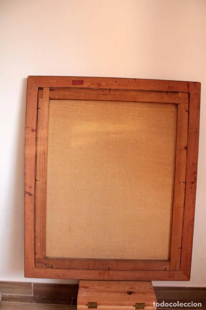 Arte: Versión de los segadores de Millet pintado al oleo sobre lienzo. Firmado y enmarcado 82x70cm - Foto 7 - 287760173
