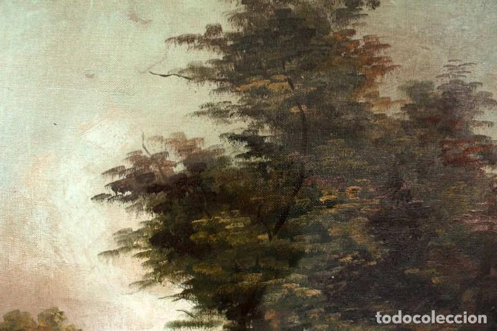 Arte: Escuela valenciana, firmado March. Paisaje con molino. Enmarcado 85x65cm - Foto 8 - 287761308