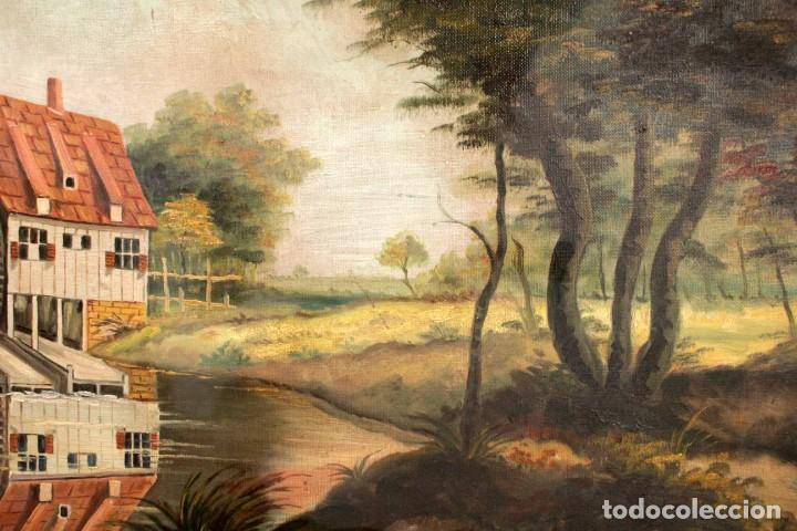 Arte: Escuela valenciana, firmado March. Paisaje con molino. Enmarcado 85x65cm - Foto 11 - 287761308