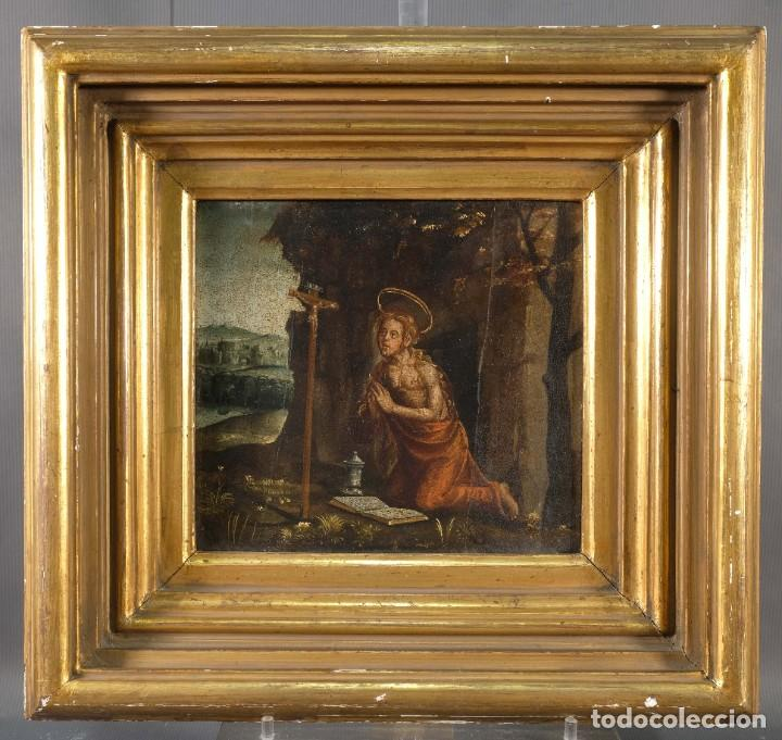 Arte: Óleo sobre tabla Maria Magdalena siglo XVI - Foto 2 - 287764953