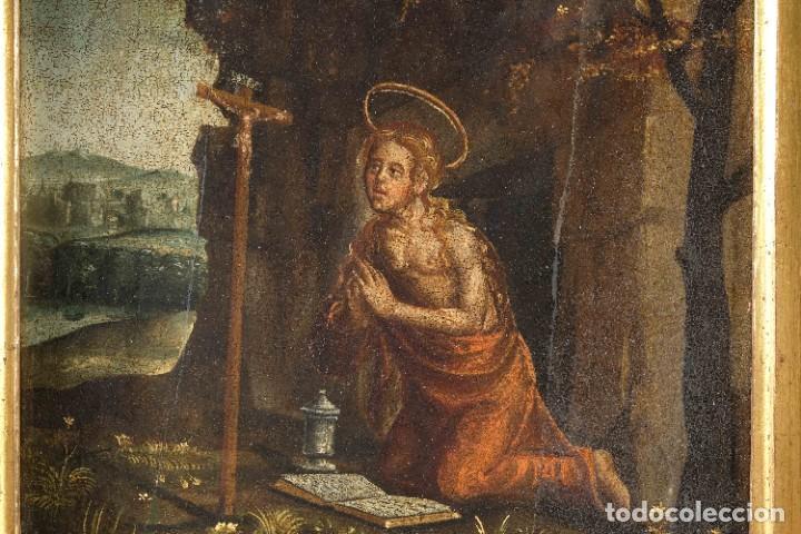 Arte: Óleo sobre tabla Maria Magdalena siglo XVI - Foto 3 - 287764953