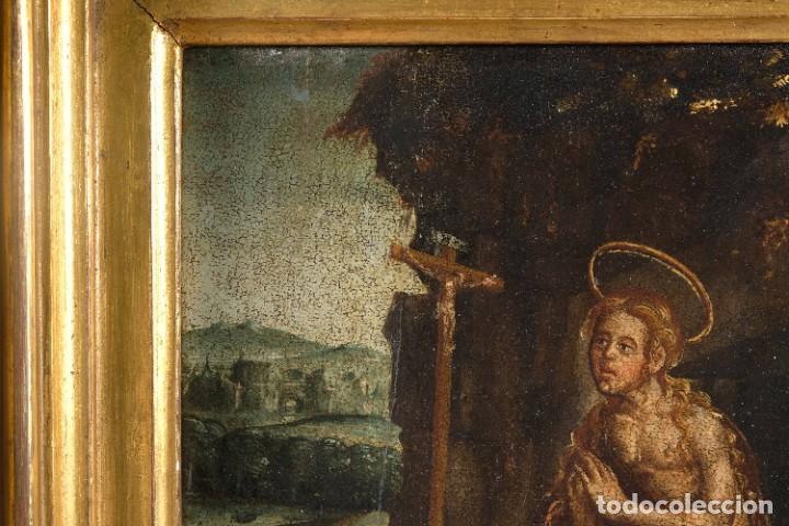Arte: Óleo sobre tabla Maria Magdalena siglo XVI - Foto 4 - 287764953