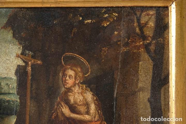 Arte: Óleo sobre tabla Maria Magdalena siglo XVI - Foto 5 - 287764953