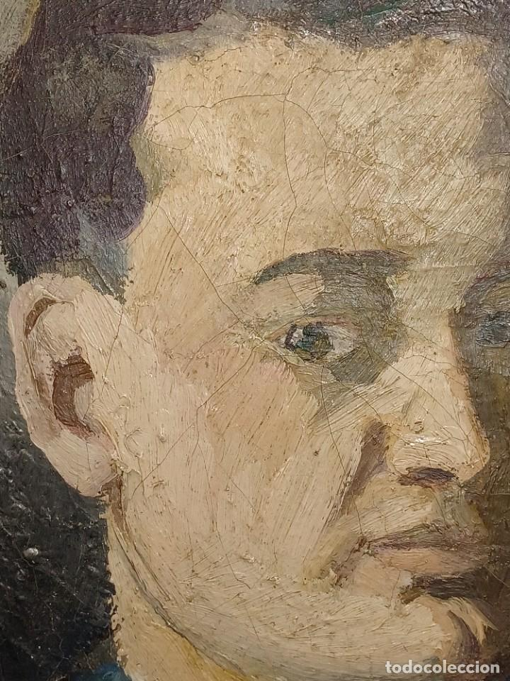 Arte: Antigua pintura impresionista personaje por identificar procedente de alicante - Foto 3 - 287768643