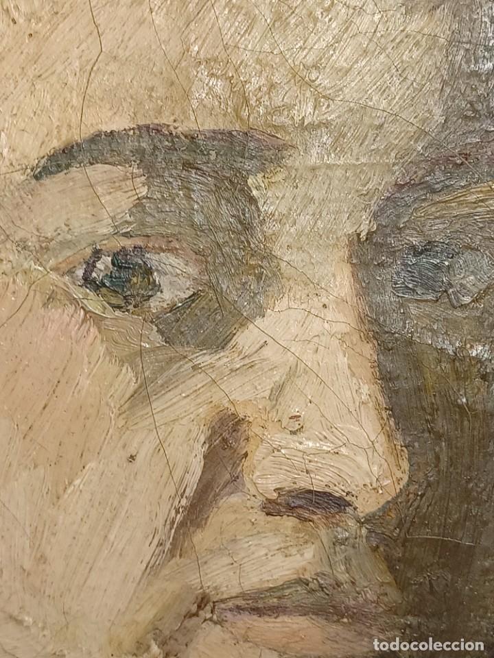 Arte: Antigua pintura impresionista personaje por identificar procedente de alicante - Foto 4 - 287768643