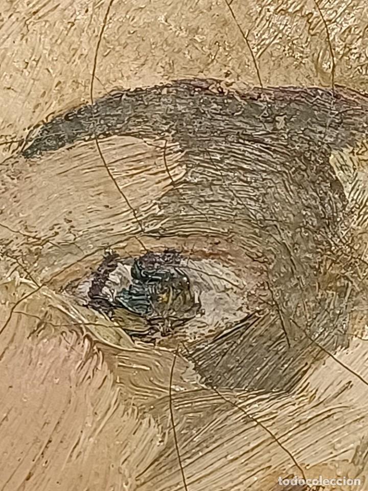 Arte: Antigua pintura impresionista personaje por identificar procedente de alicante - Foto 5 - 287768643