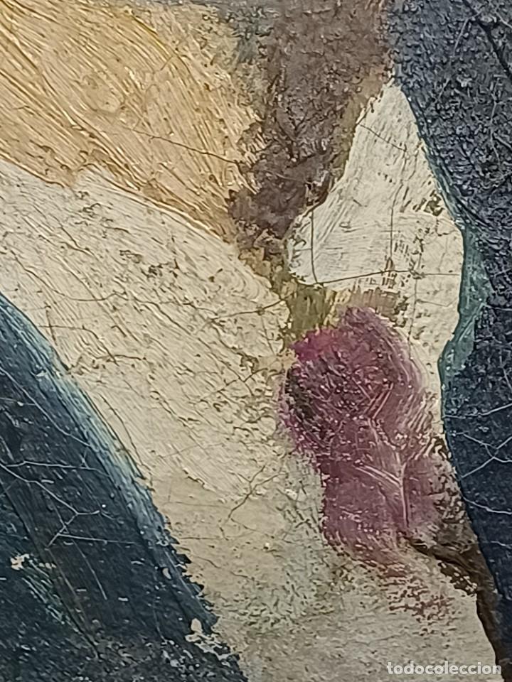 Arte: Antigua pintura impresionista personaje por identificar procedente de alicante - Foto 7 - 287768643