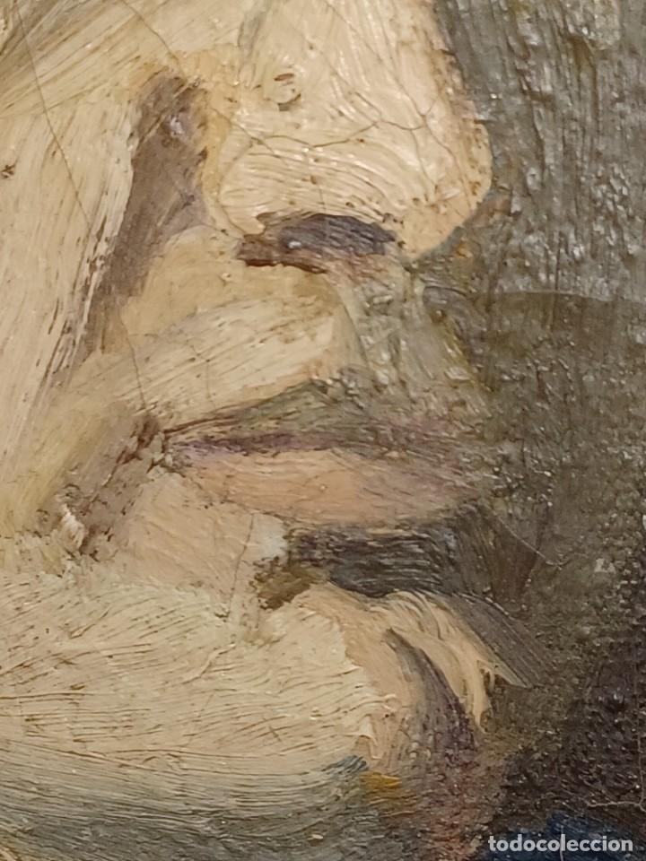 Arte: Antigua pintura impresionista personaje por identificar procedente de alicante - Foto 9 - 287768643