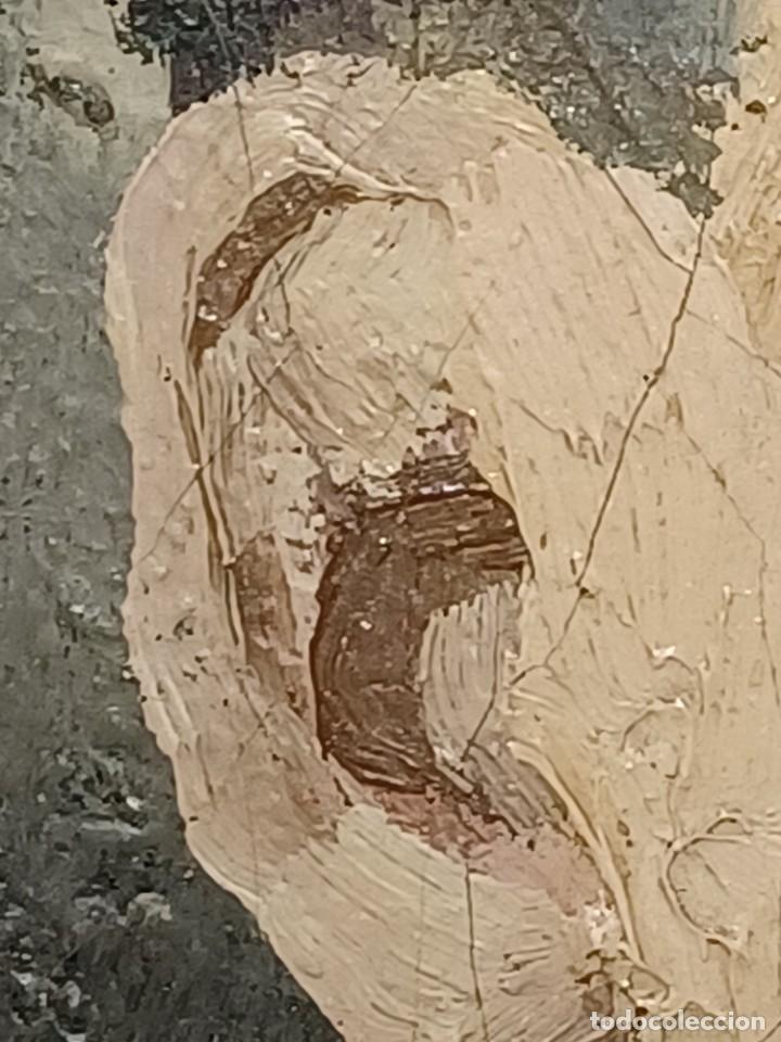 Arte: Antigua pintura impresionista personaje por identificar procedente de alicante - Foto 10 - 287768643