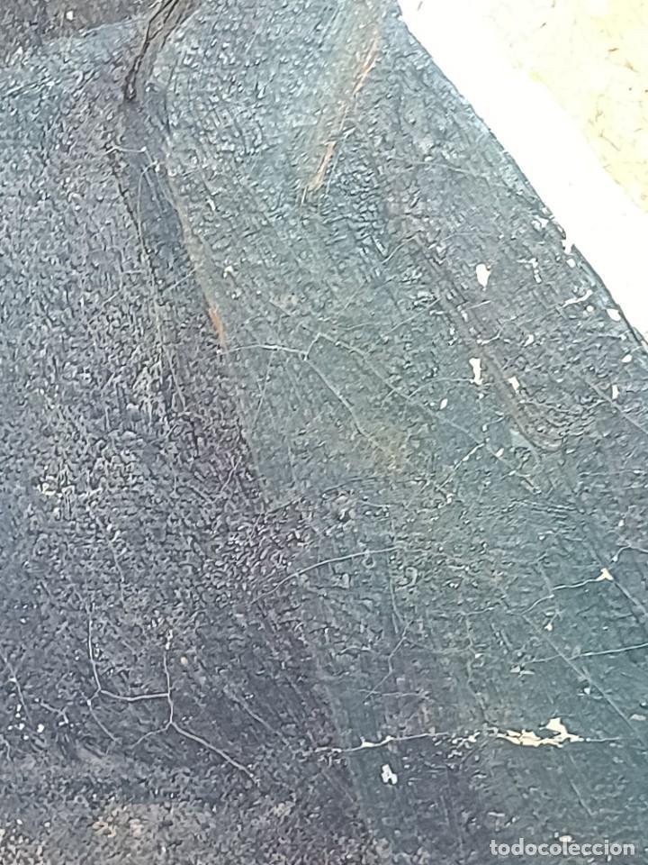 Arte: Antigua pintura impresionista personaje por identificar procedente de alicante - Foto 11 - 287768643