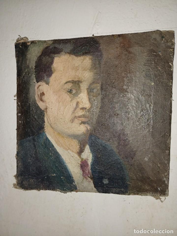 Arte: Antigua pintura impresionista personaje por identificar procedente de alicante - Foto 13 - 287768643
