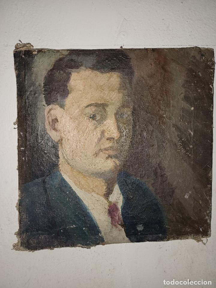 Arte: Antigua pintura impresionista personaje por identificar procedente de alicante - Foto 14 - 287768643