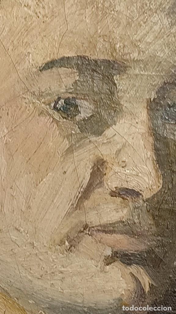 Arte: Antigua pintura impresionista personaje por identificar procedente de alicante - Foto 15 - 287768643