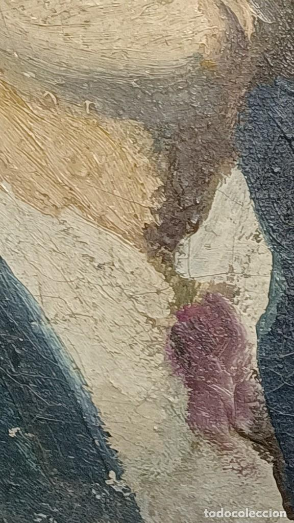 Arte: Antigua pintura impresionista personaje por identificar procedente de alicante - Foto 16 - 287768643