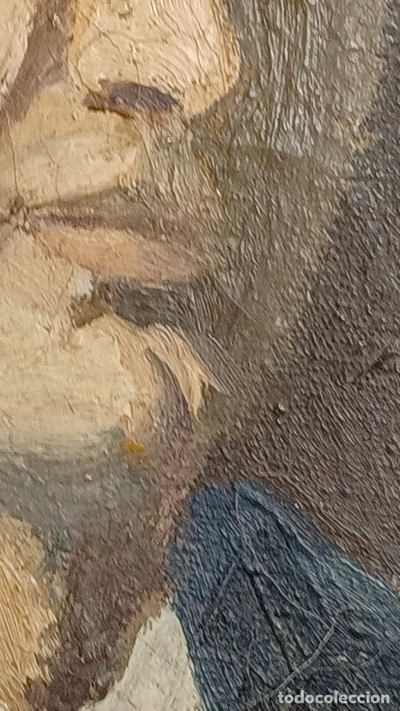 Arte: Antigua pintura impresionista personaje por identificar procedente de alicante - Foto 17 - 287768643