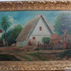 Arte: GUINART, ESC VALENCIANA O CATALANA, PRINCIPIO S.XX. BARRACA. O/L ENMARCADO 87X52XM. Lote 287850953
