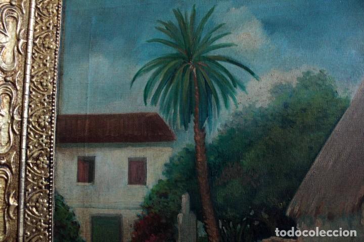 Arte: GUINART, esc valenciana o catalana, principio s.XX. Barraca. O/L enmarcado 87x52xm - Foto 7 - 287850953
