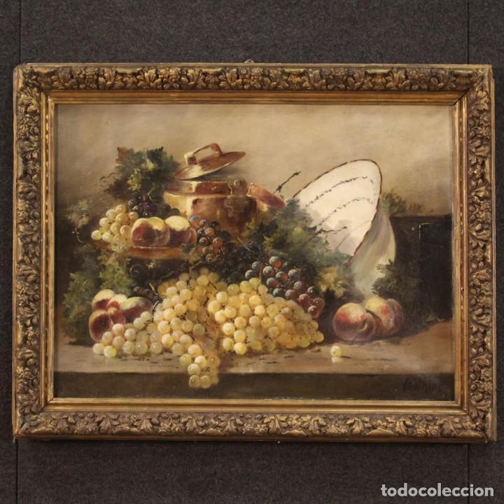 BODEGÓN FRANCÉS ANTIGUO DEL SIGLO XIX. (Arte - Pintura - Pintura al Óleo Moderna siglo XIX)