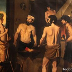 Arte: EXCELENTE COPIA DE LA FRAGUA DE VULCANO, OLEO / LIENZO. GRAN TAMAÑO. CON MARCO 112X89CM. Lote 287889303