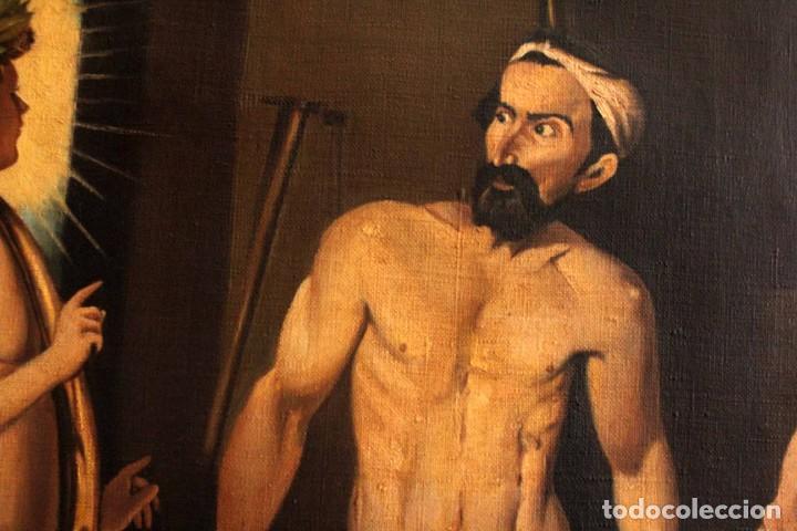 Arte: Excelente copia de la fragua de Vulcano, Oleo / lienzo. Gran tamaño. Con marco 112x89cm - Foto 9 - 287889303
