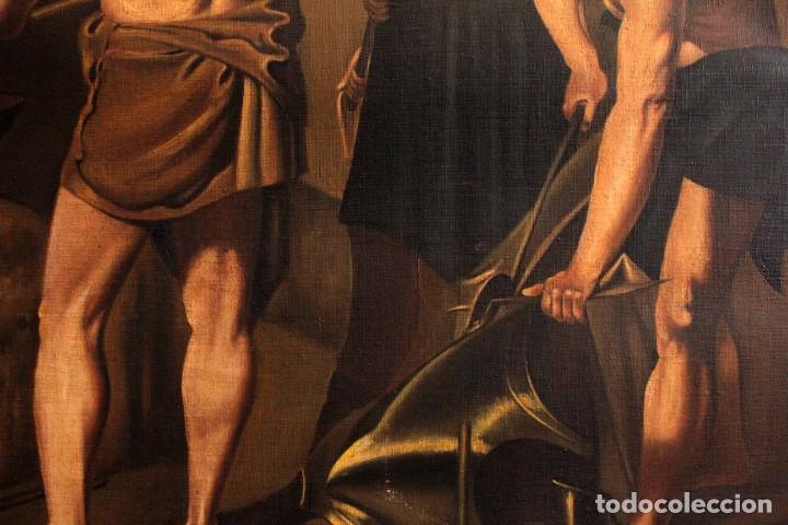 Arte: Excelente copia de la fragua de Vulcano, Oleo / lienzo. Gran tamaño. Con marco 112x89cm - Foto 10 - 287889303