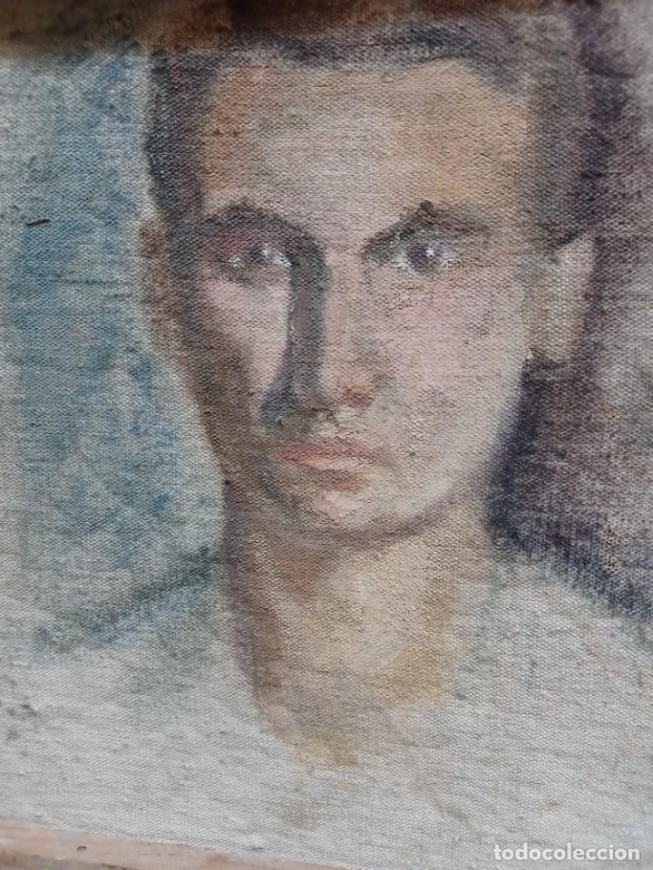 Arte: Antigua pintura impresionista personaje por identificar procedente de alicante - Foto 18 - 287768643