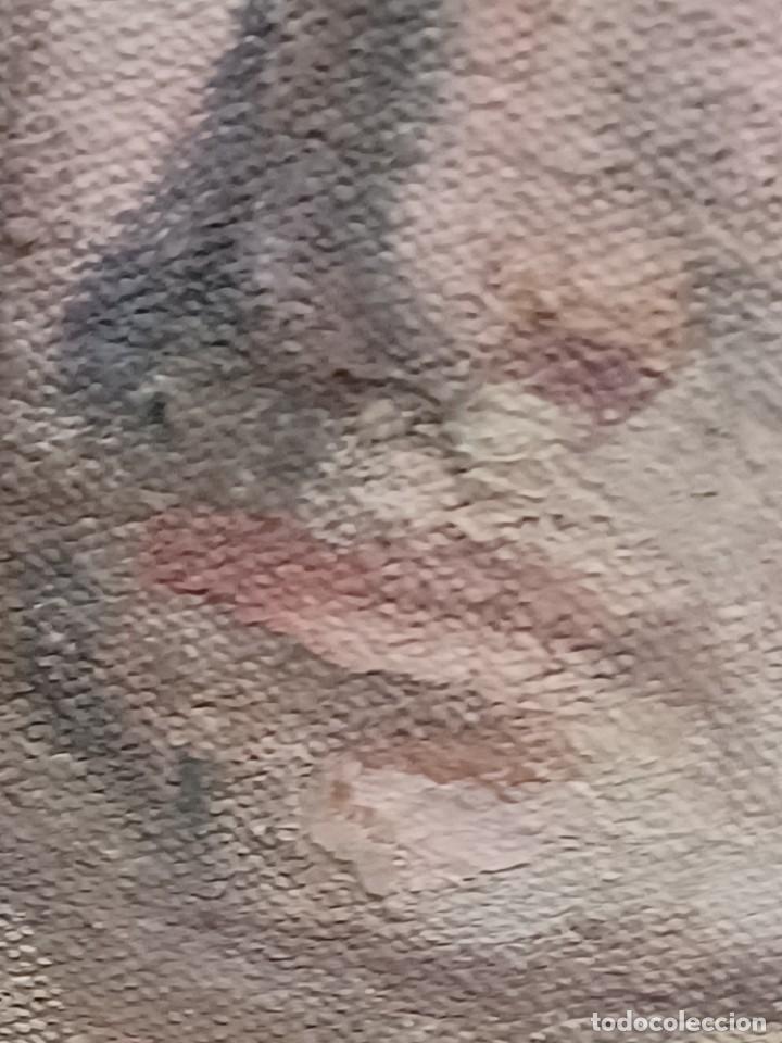 Arte: Antigua pintura impresionista personaje por identificar procedente de alicante - Foto 19 - 287768643