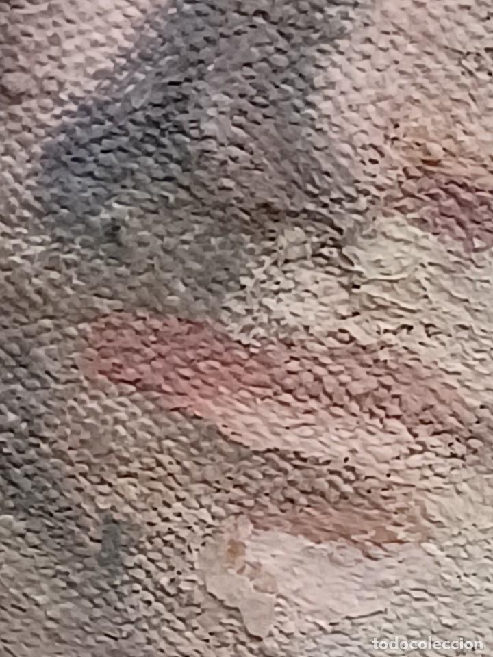 Arte: Antigua pintura impresionista personaje por identificar procedente de alicante - Foto 21 - 287768643