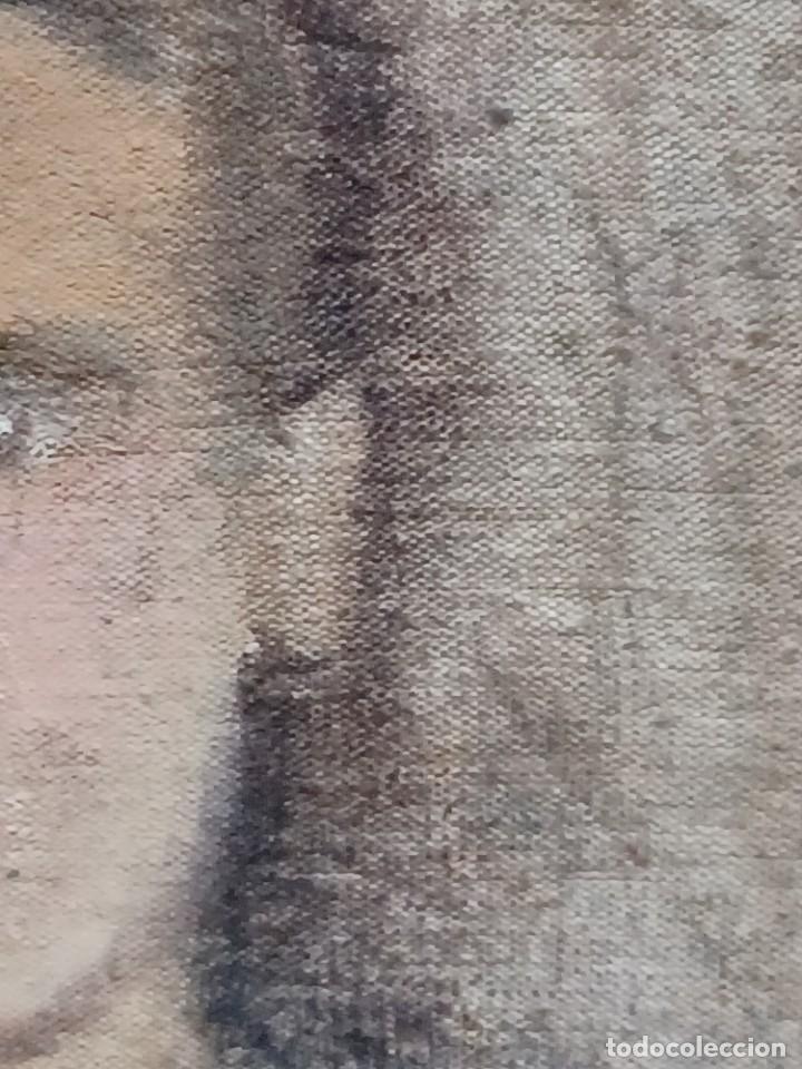 Arte: Antigua pintura impresionista personaje por identificar procedente de alicante - Foto 22 - 287768643
