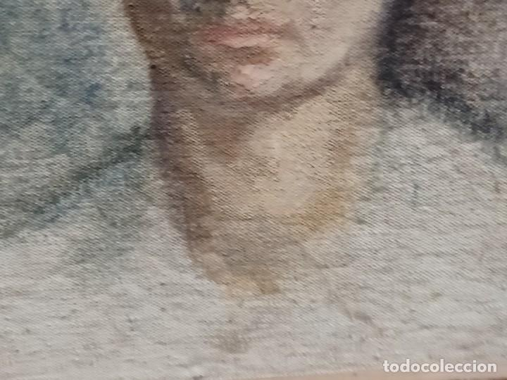 Arte: Antigua pintura impresionista personaje por identificar procedente de alicante - Foto 24 - 287768643