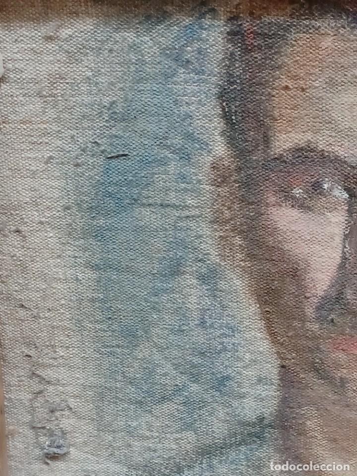 Arte: Antigua pintura impresionista personaje por identificar procedente de alicante - Foto 25 - 287768643