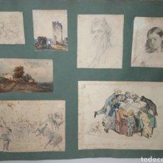 Arte: RARISIMAS PINTURAS Y DIBUJOS - FIRMADO ADOLFO ORTENBACH 1847 - VEAN FOTOGRAFÍAS. Lote 287929113