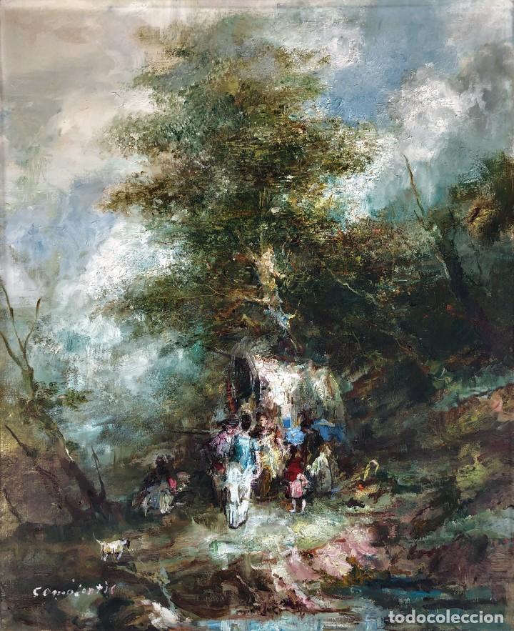 JOAN CAMO SENTIS (1920-2021) - ESCENA CAMPESTRE - ÓLEO SOBRE LIENZO (Arte - Pintura - Pintura al Óleo Moderna sin fecha definida)